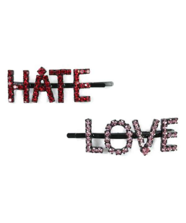 HATE/LOVE HAIRPIN