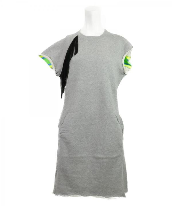 NEON RIB SWEAT DRESS
