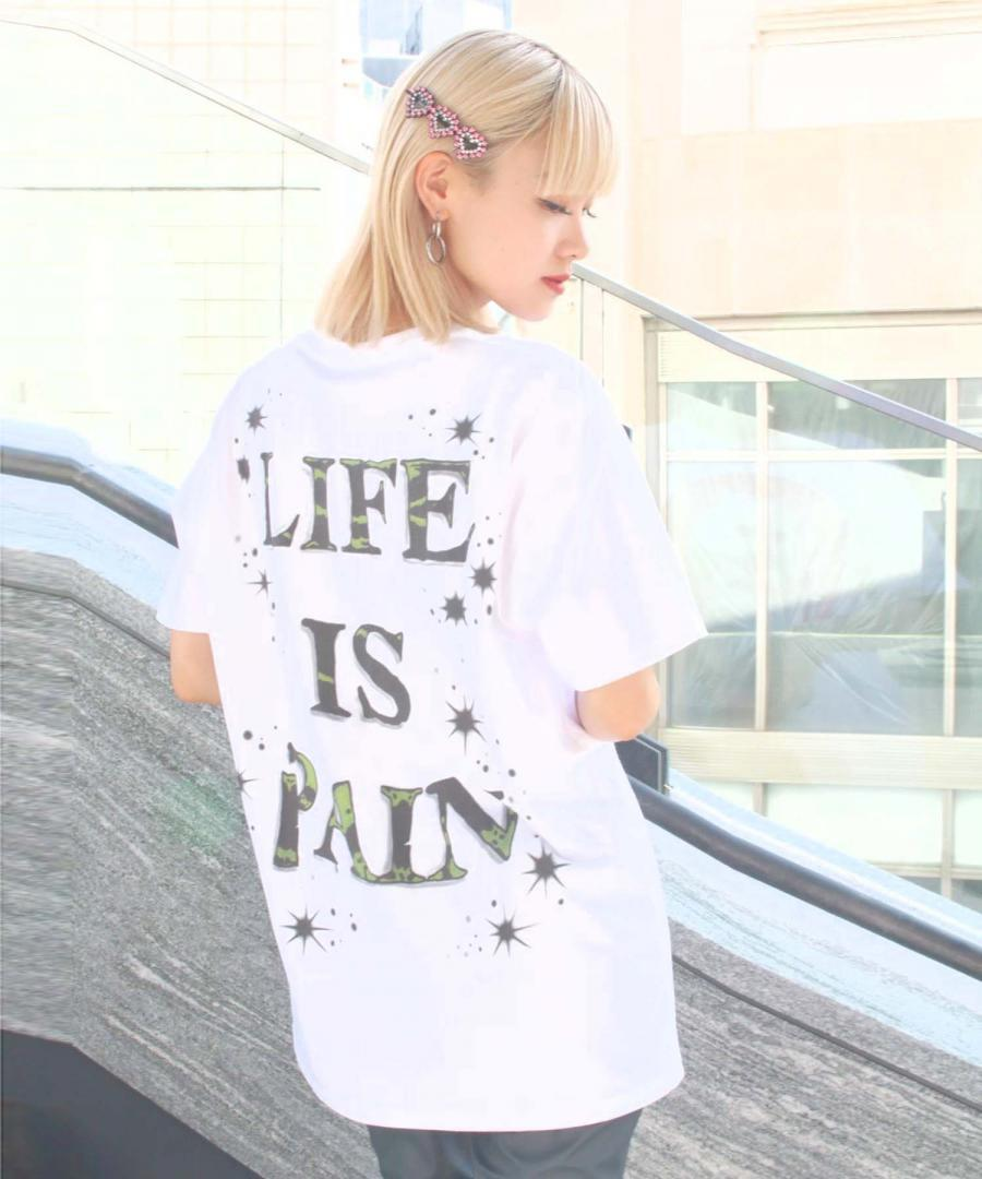AIRBRUSH TEE - KITTEN / LIFE IS PAIN