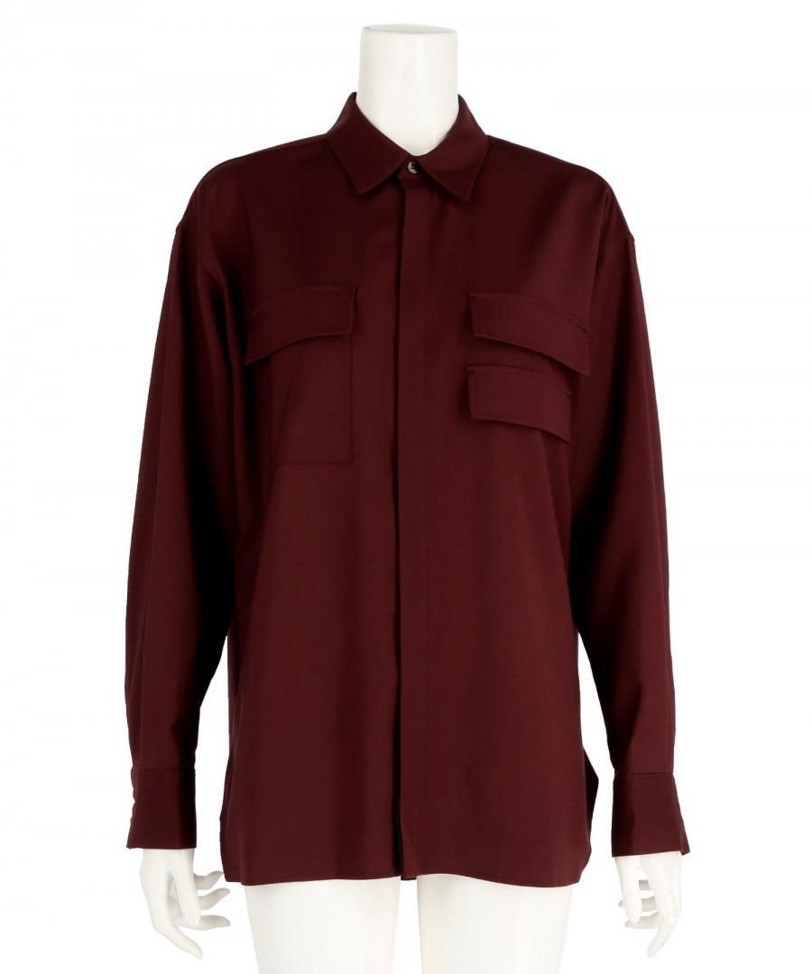 WOOL BLEND OVER SIZED SHIRT