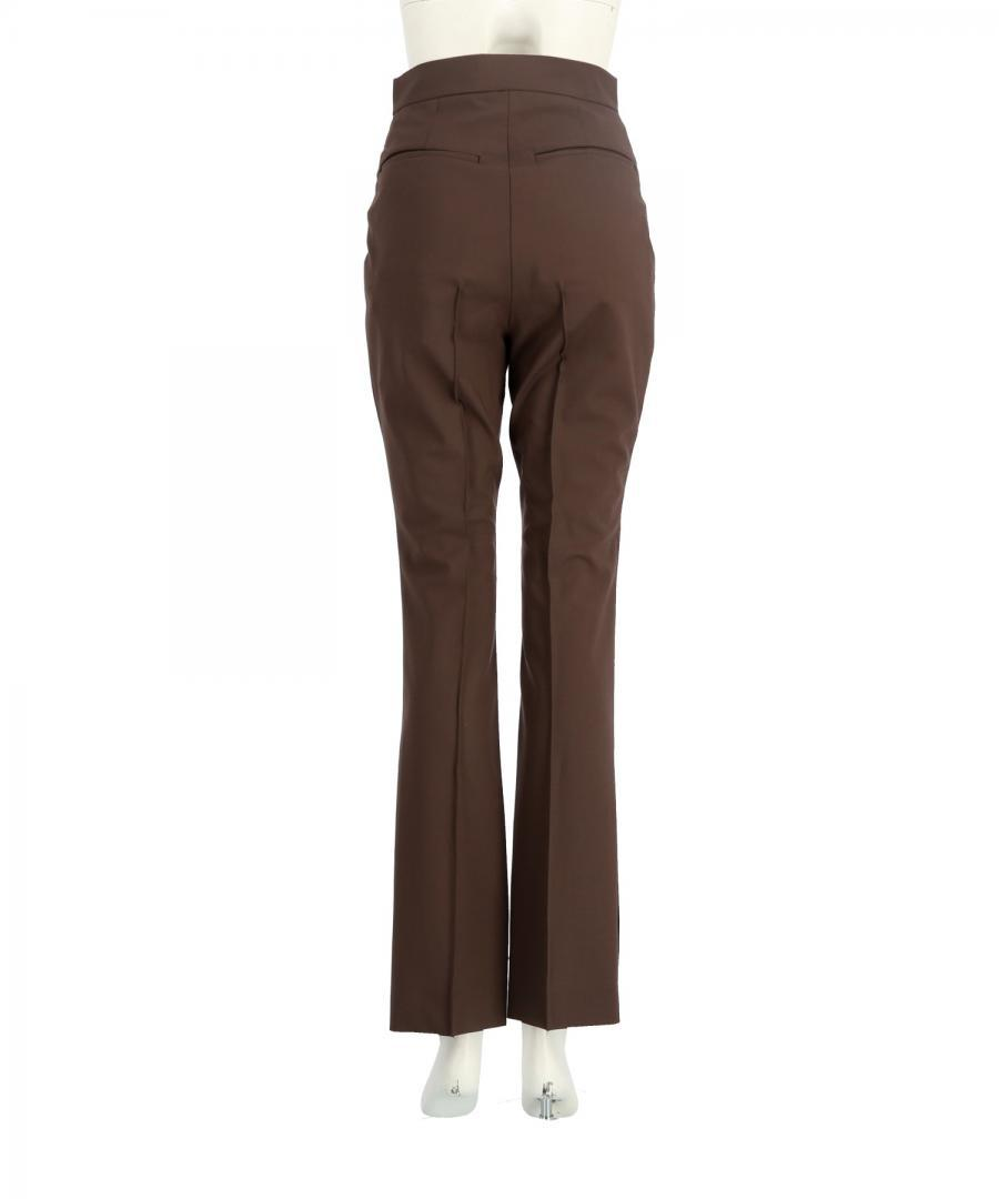 STRETCH WOOL SLIM LEG TROUSERS