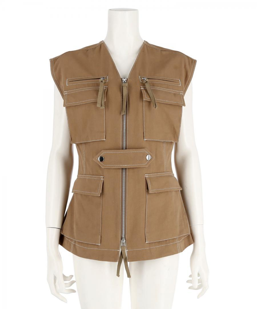 COTTON TWILL UTILITY VEST