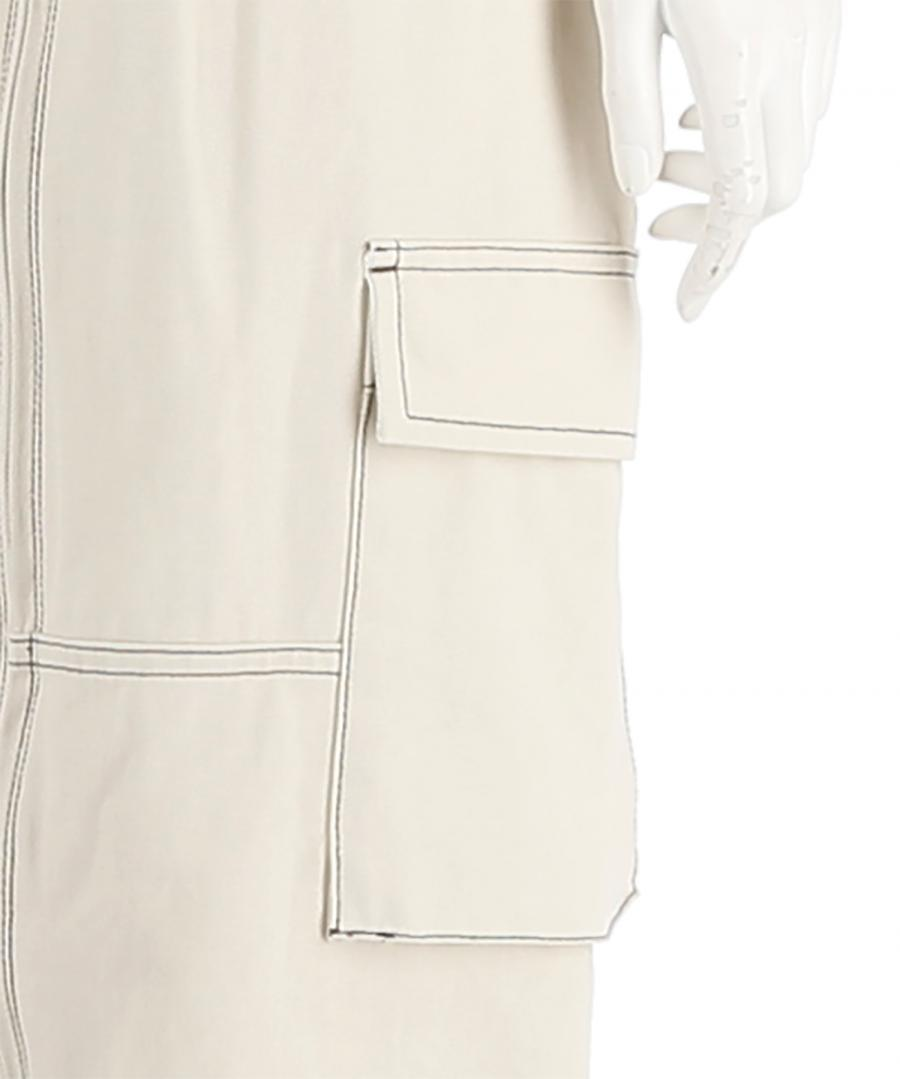 COTTON TWILL UTILITY JUMPSUIT