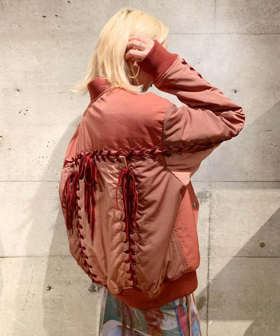 LACE UP MA-1 BLOUSON