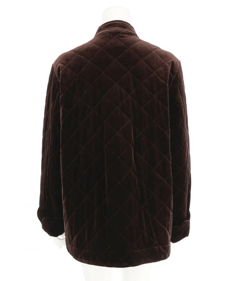 VELOUR QUILTED JACKET
