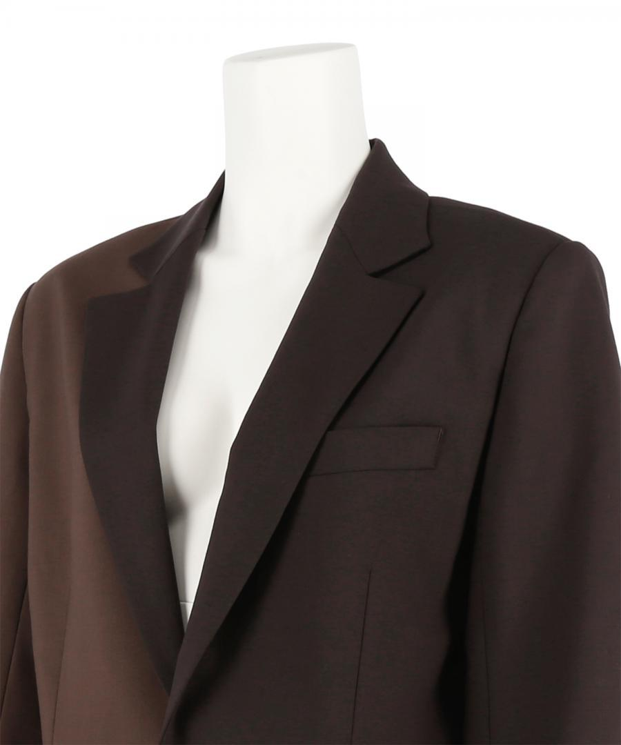 STRETCH WOOL SINGLE BREASTED JACKET