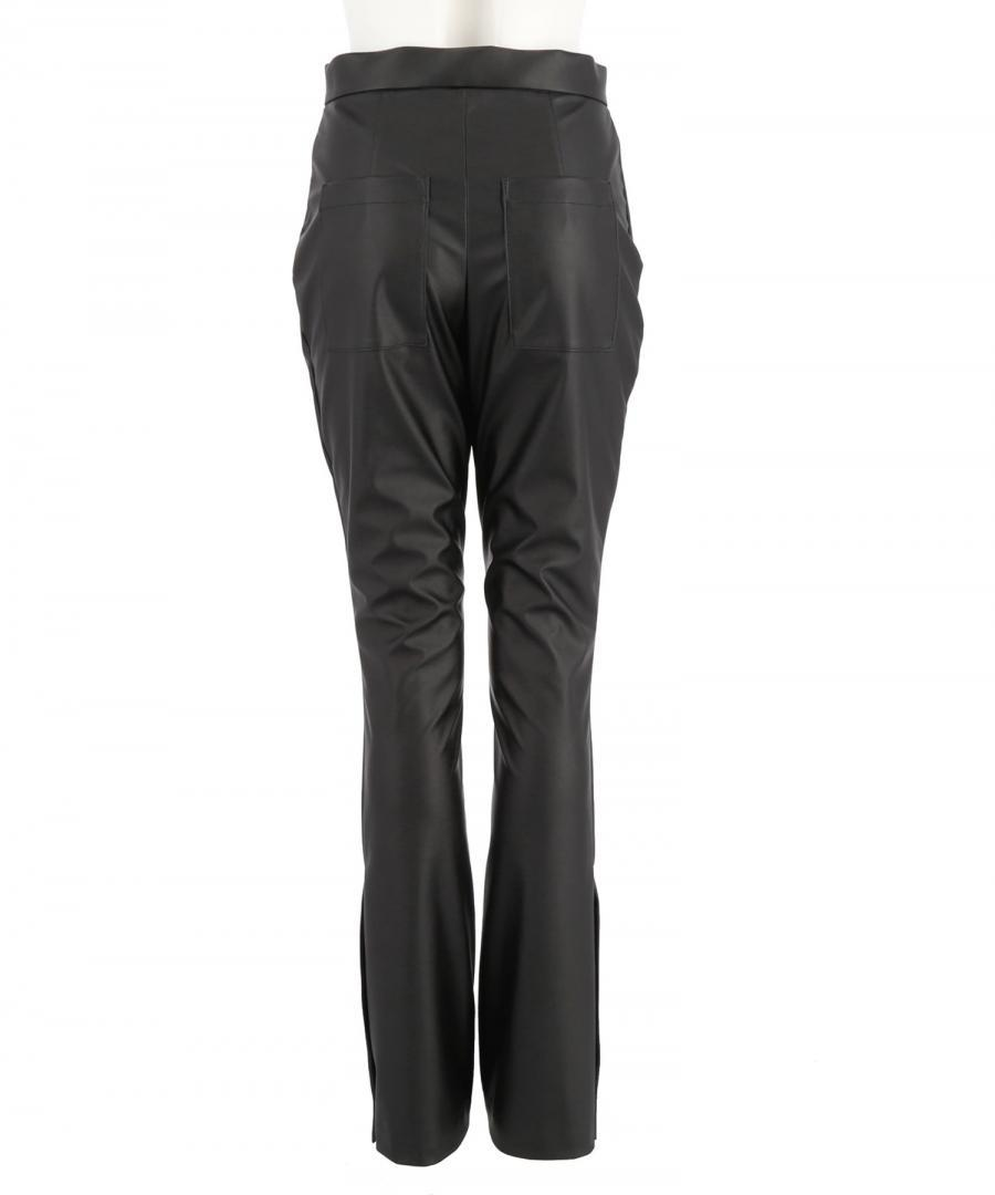 FAKE LEATHER TROUSERS