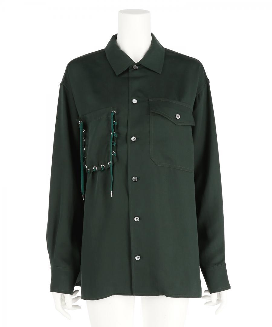 LACE UP POCKET SHIRT