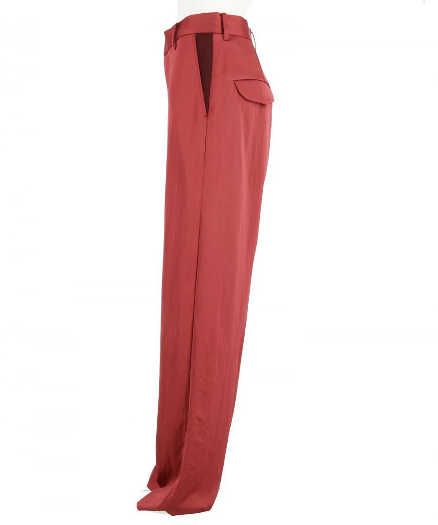 WRINKLED SATIN TROUSERS