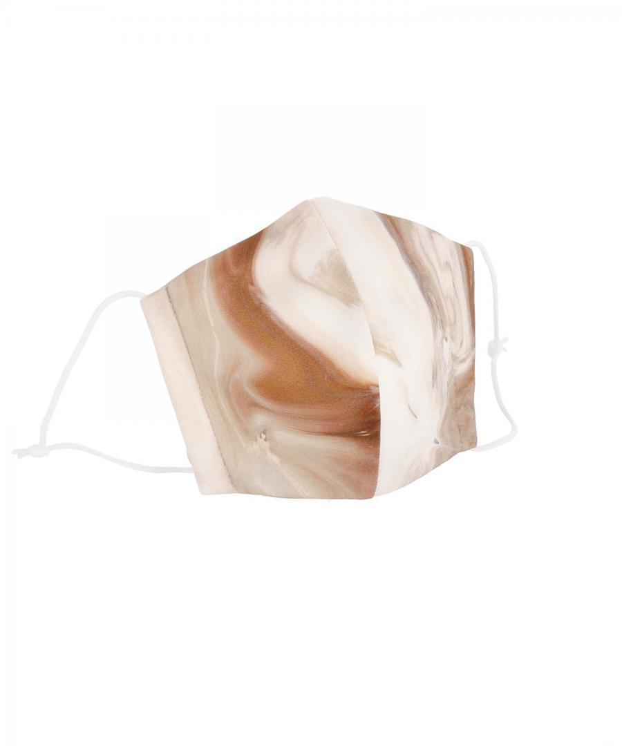 MARBLE PRINTED JERSEY MASK