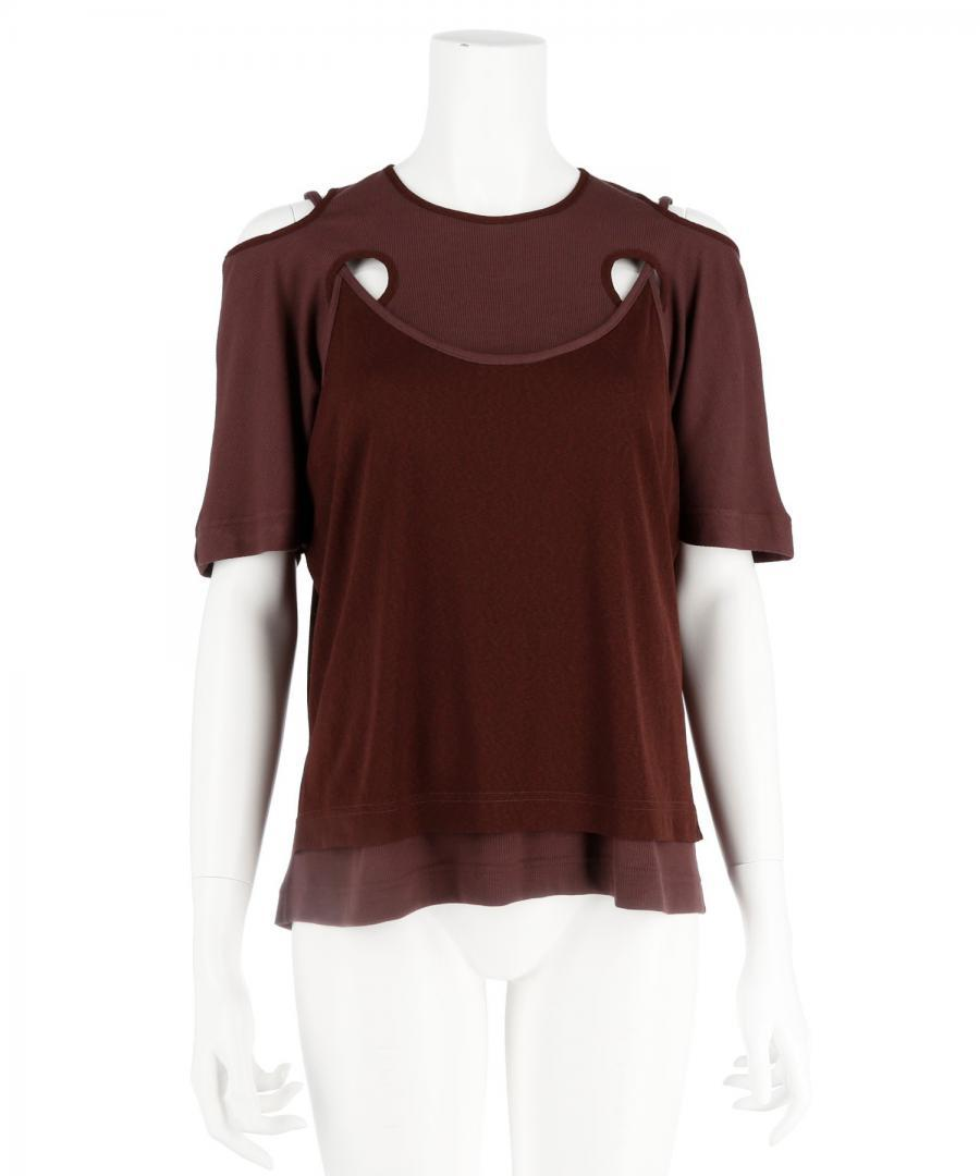 HOLE TEE AND CAMI TOP