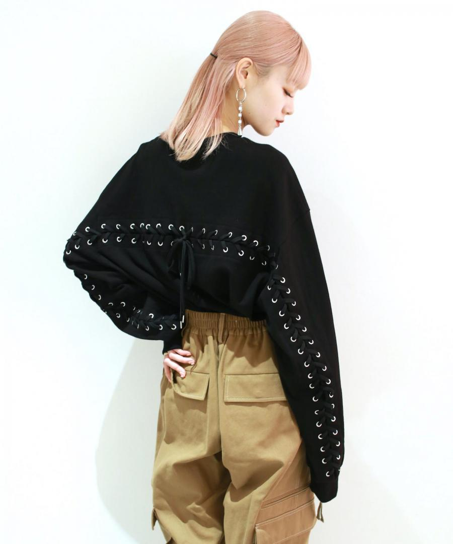 LACE UP L/S TEE
