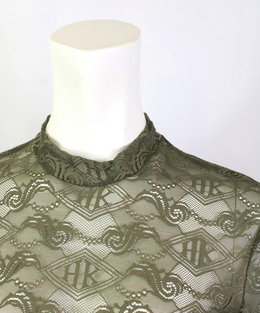 LACE LONG SLEEVE – GREEN TRIBAL LACE