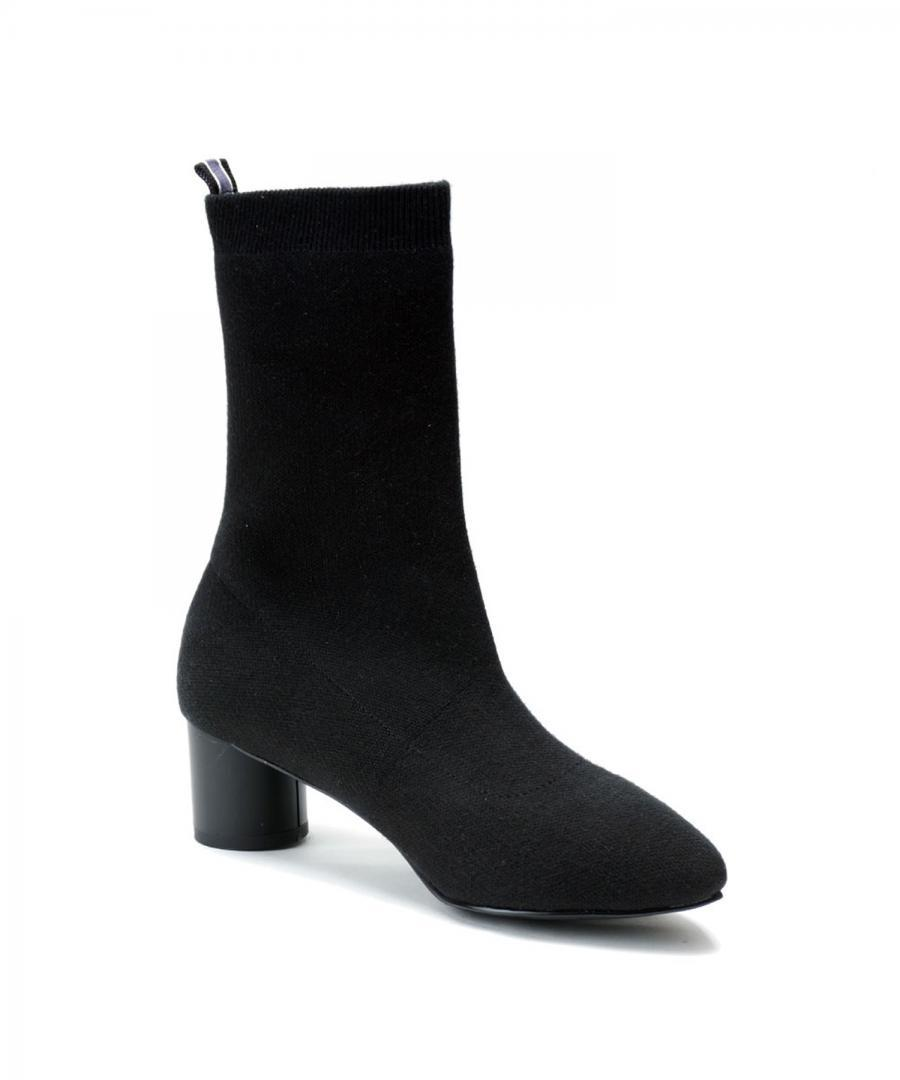KNIT BOOTS POINT Black