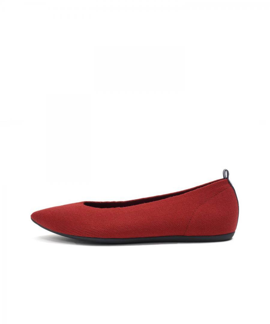 KNIT FLATS POINT Deep Red