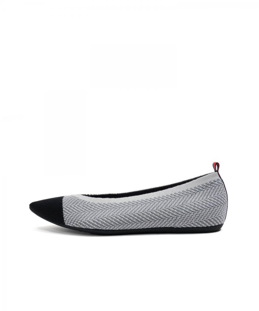 KNIT FLATS POINT T-tone Herringbone L.G