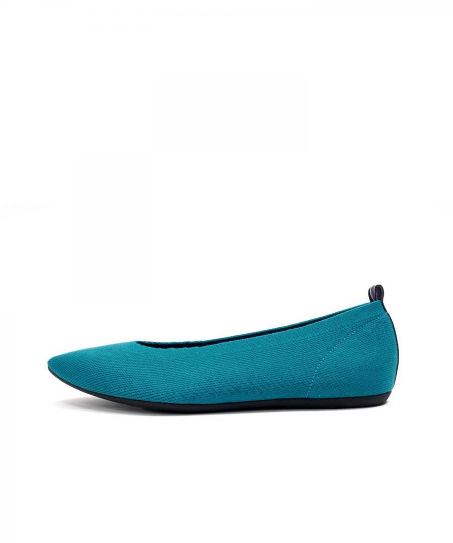 KNIT FLATS POINT Deep Turquoise