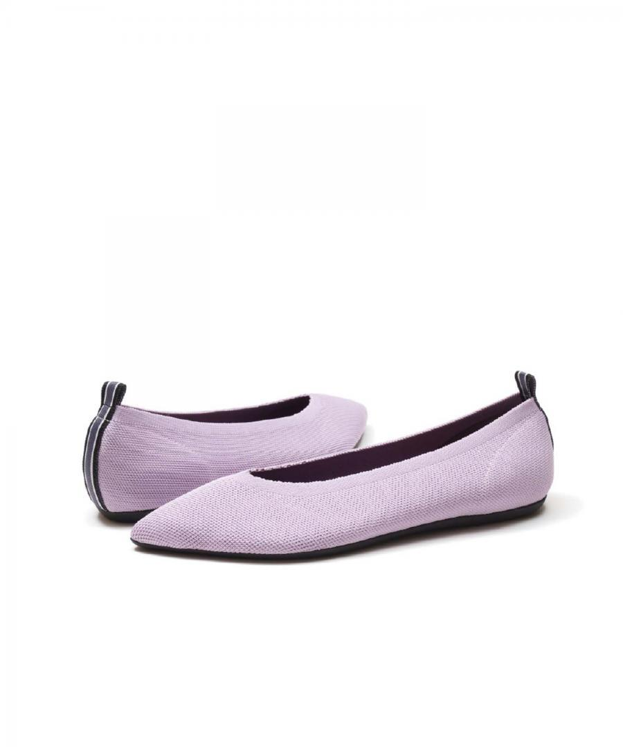 KNIT FLATS POINT PALE VIOLET