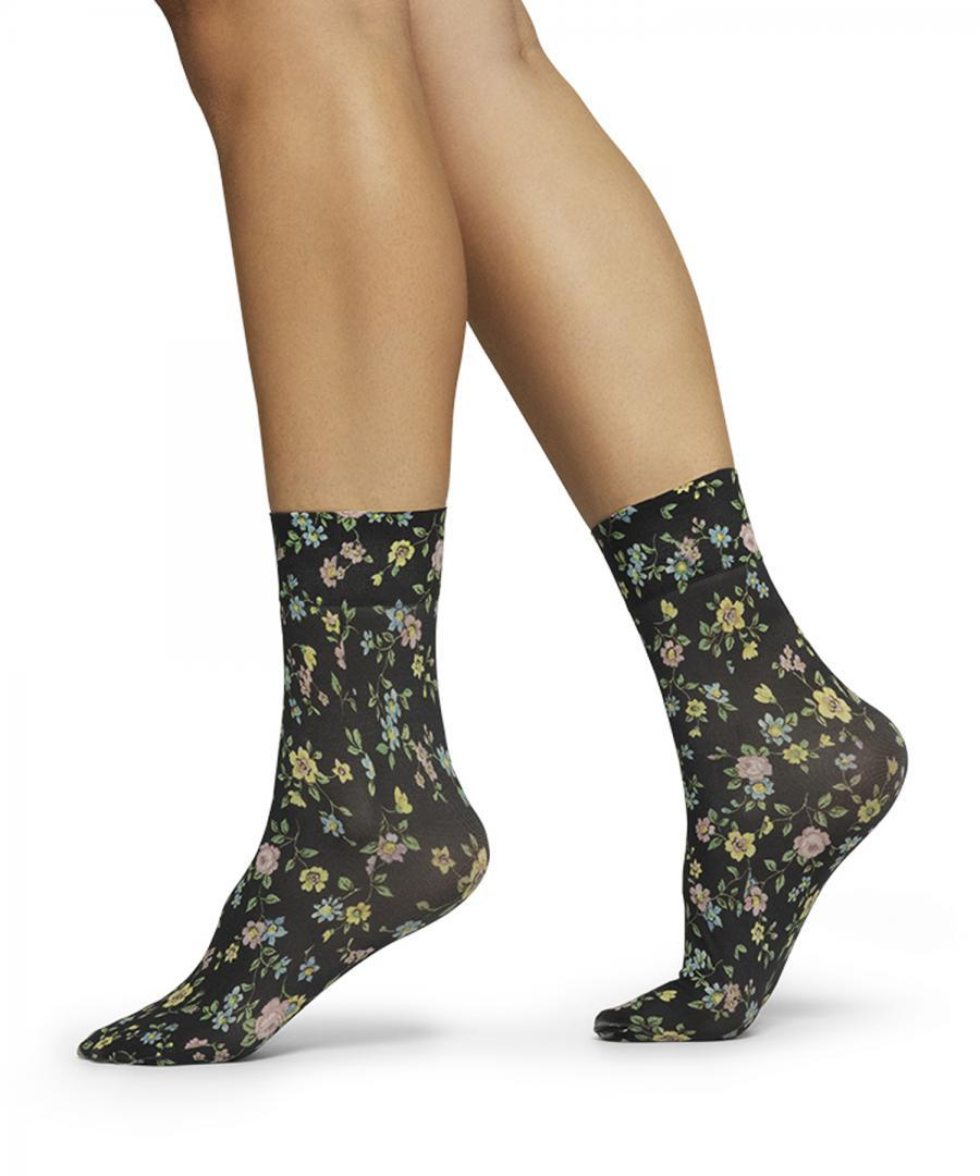 Ada Flower Socks Black/Mix