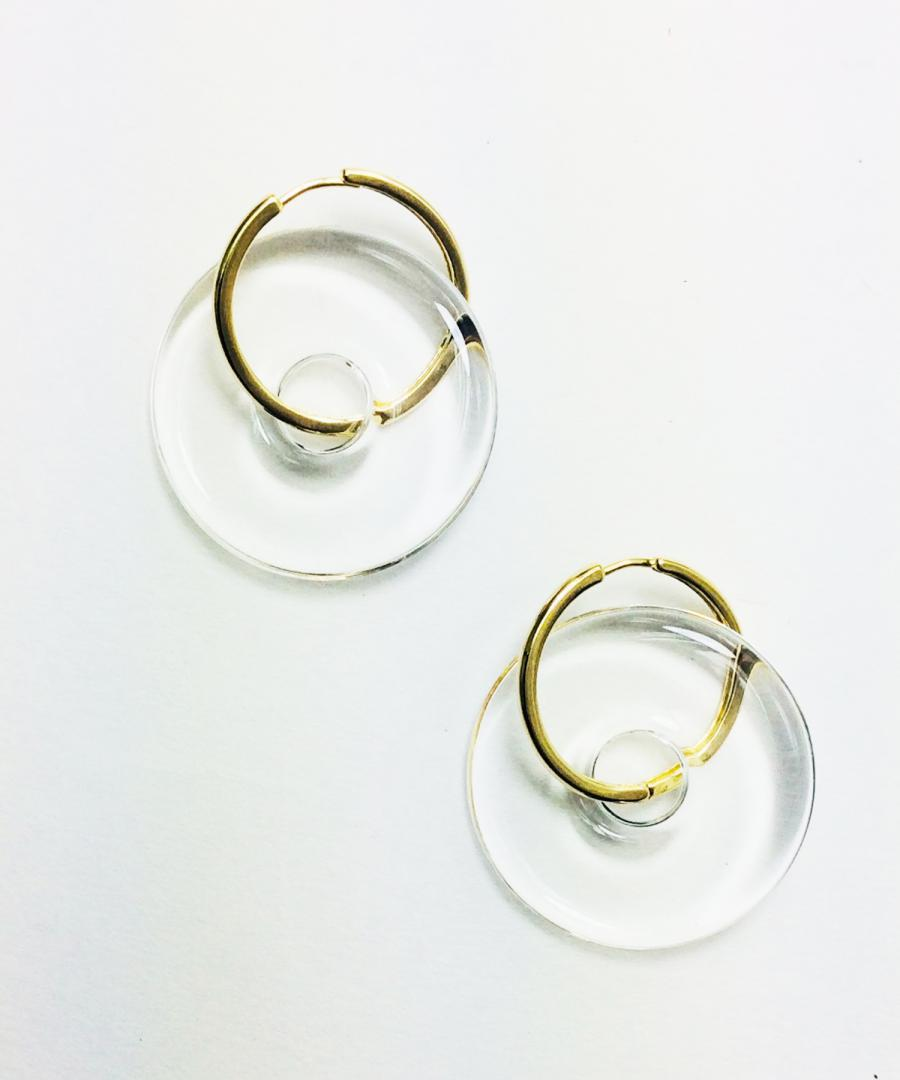 GLOSSY HOOP EARRINGS