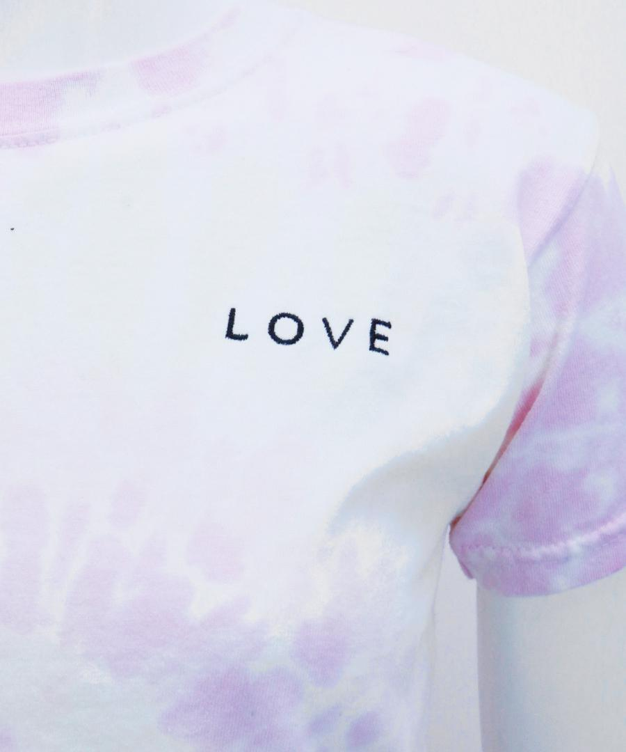 SELF LOVE TEE WHITE TIE DYE