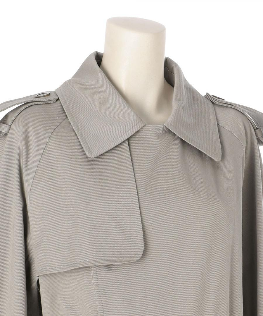 COTTON TWILL TRENCH COAT