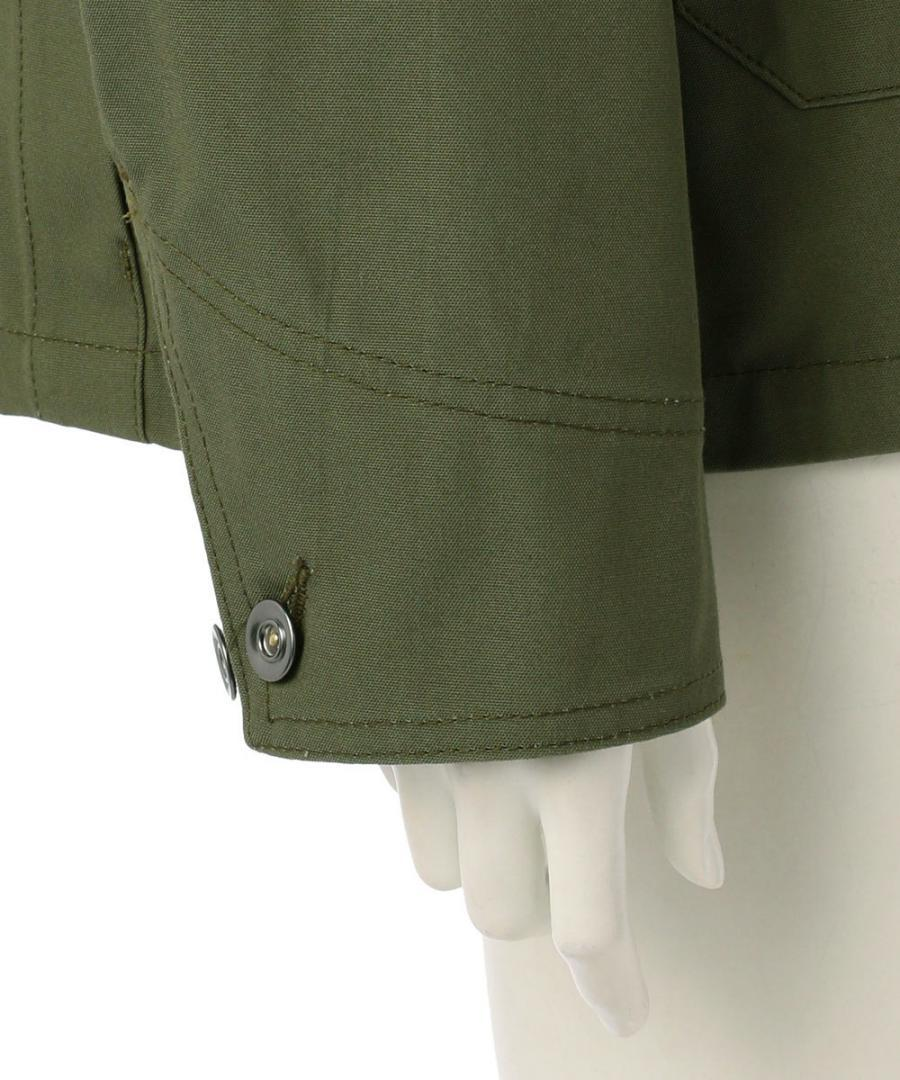 HALF MOON POCKET COTTON CANVAS JACKET