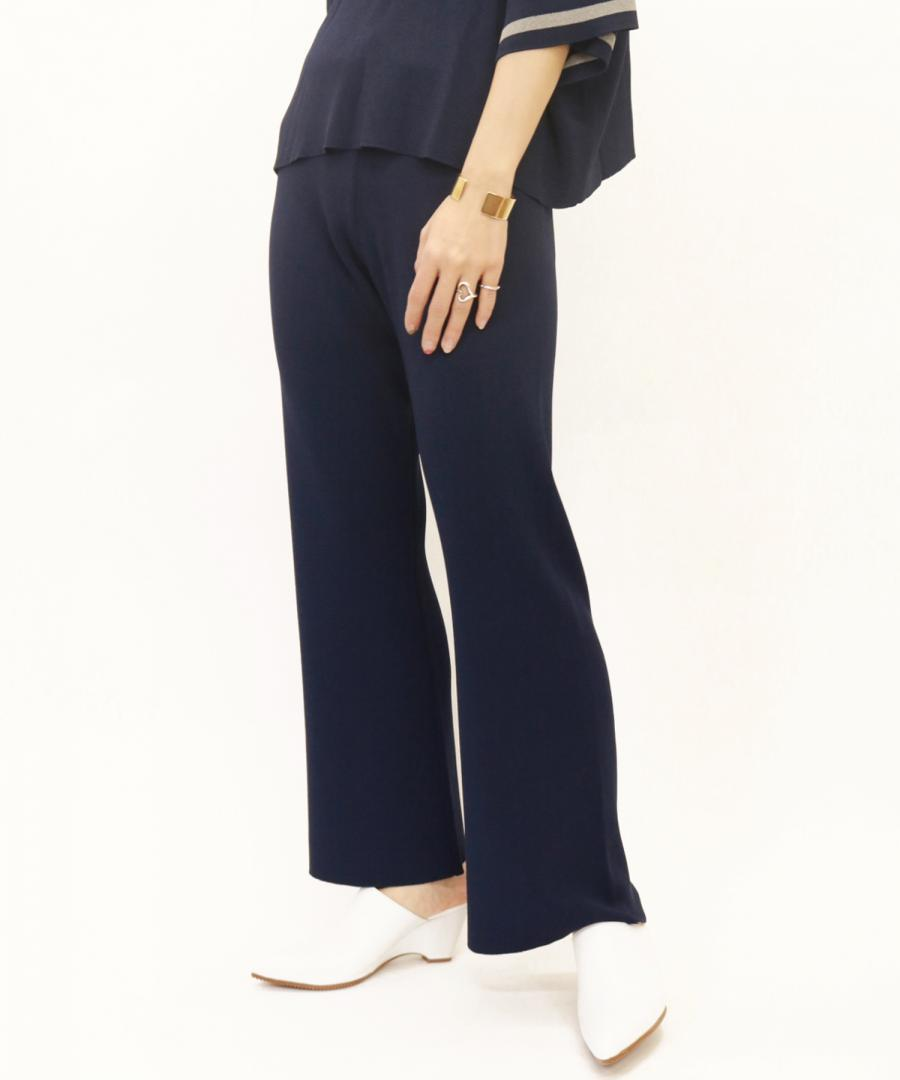 KICK FLARE KNIT TROUSERS