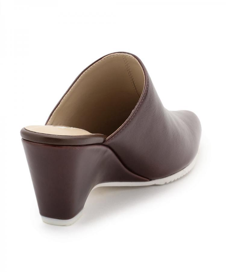 WEDGE LEATHER MULES