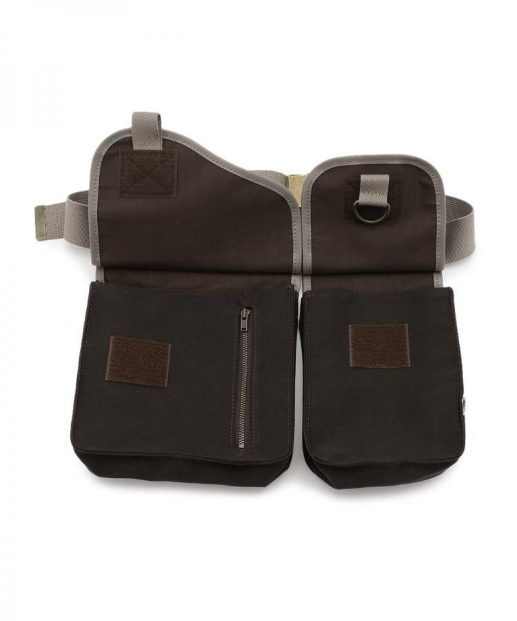 LEATHER TRIMMED BELT BAG