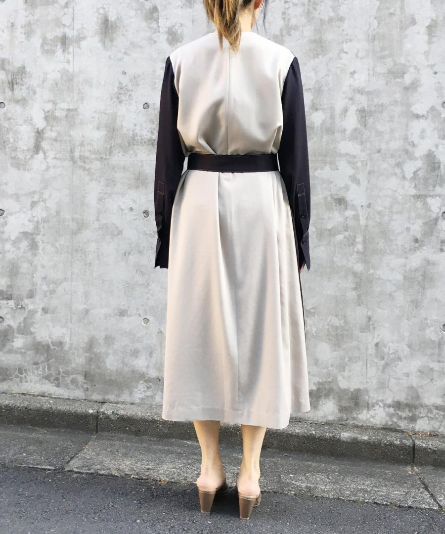 BELTED BICOLOR DRESS
