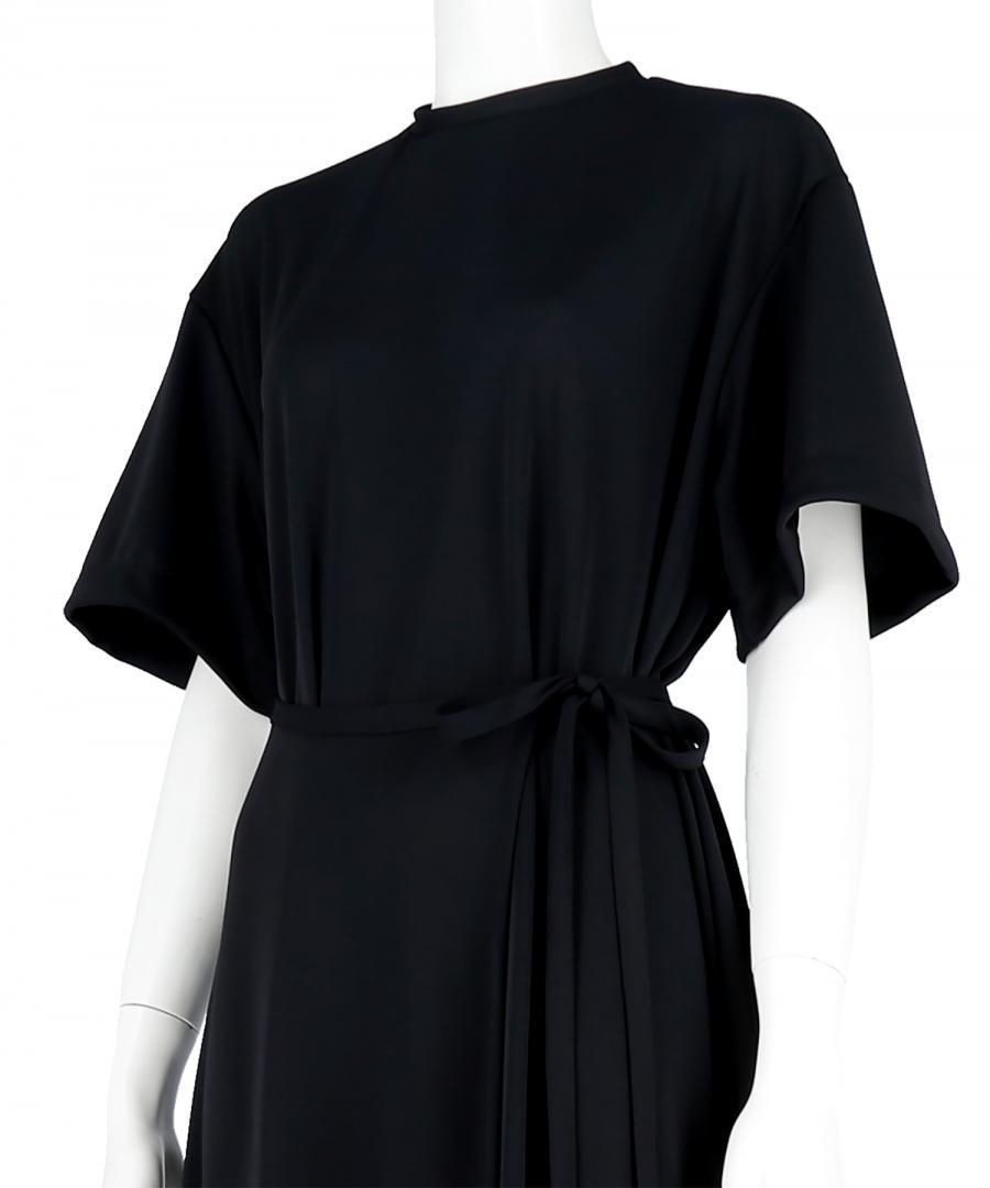 WASHABLE JERSEY BELTED DRESS