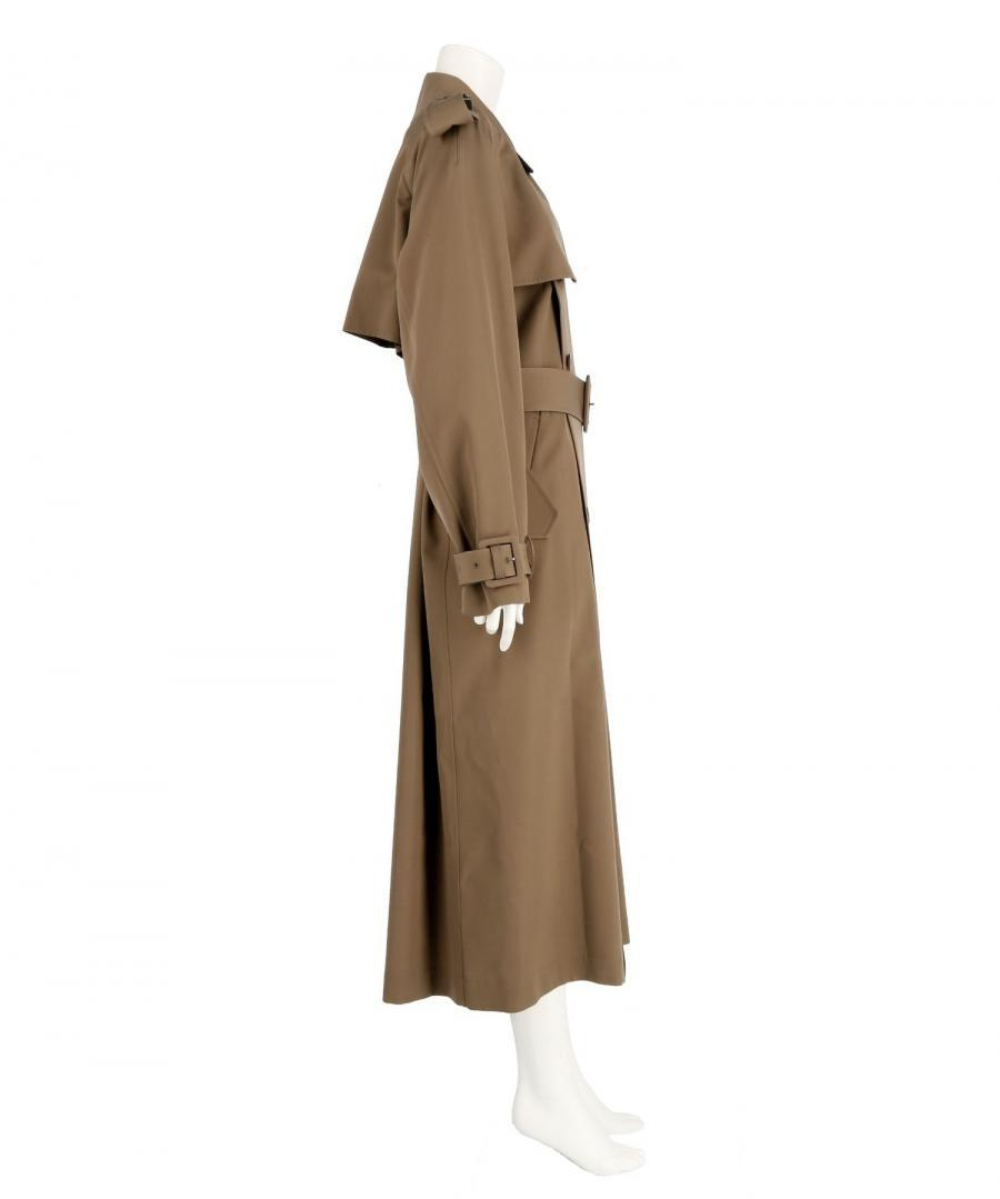 WOOL GABARDINE TRENCH COAT