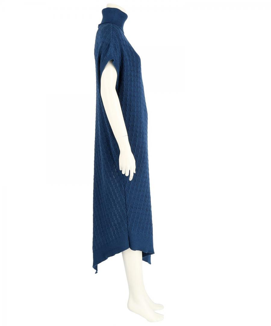 WASHABLE WOOL BLEND CABLE STITCH DRESS