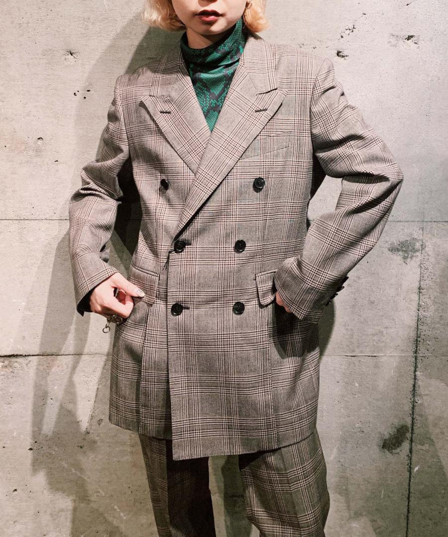 CHECKED WOOL VENTED JACKET