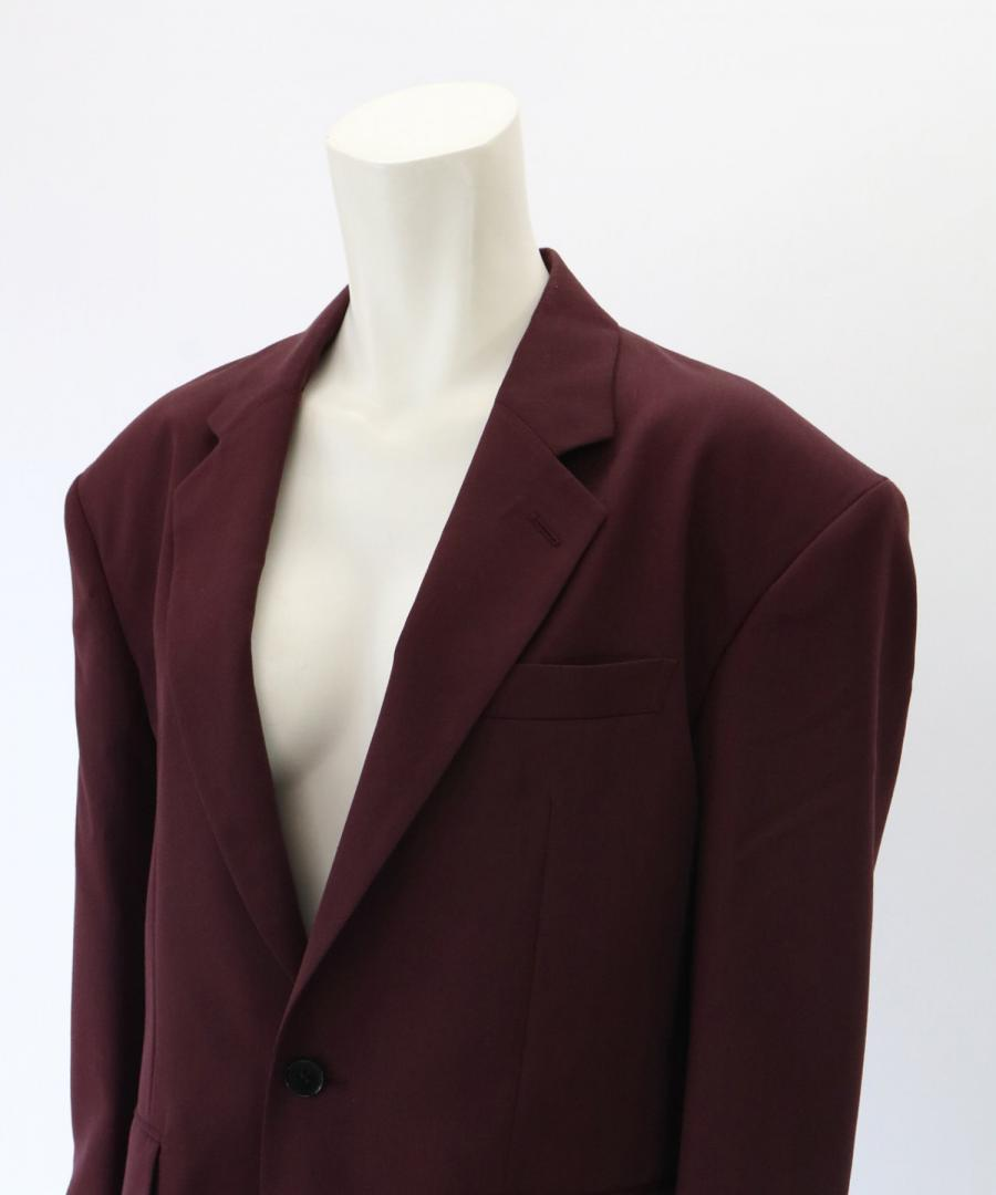 WOOL SATIN SINGLE JACKET