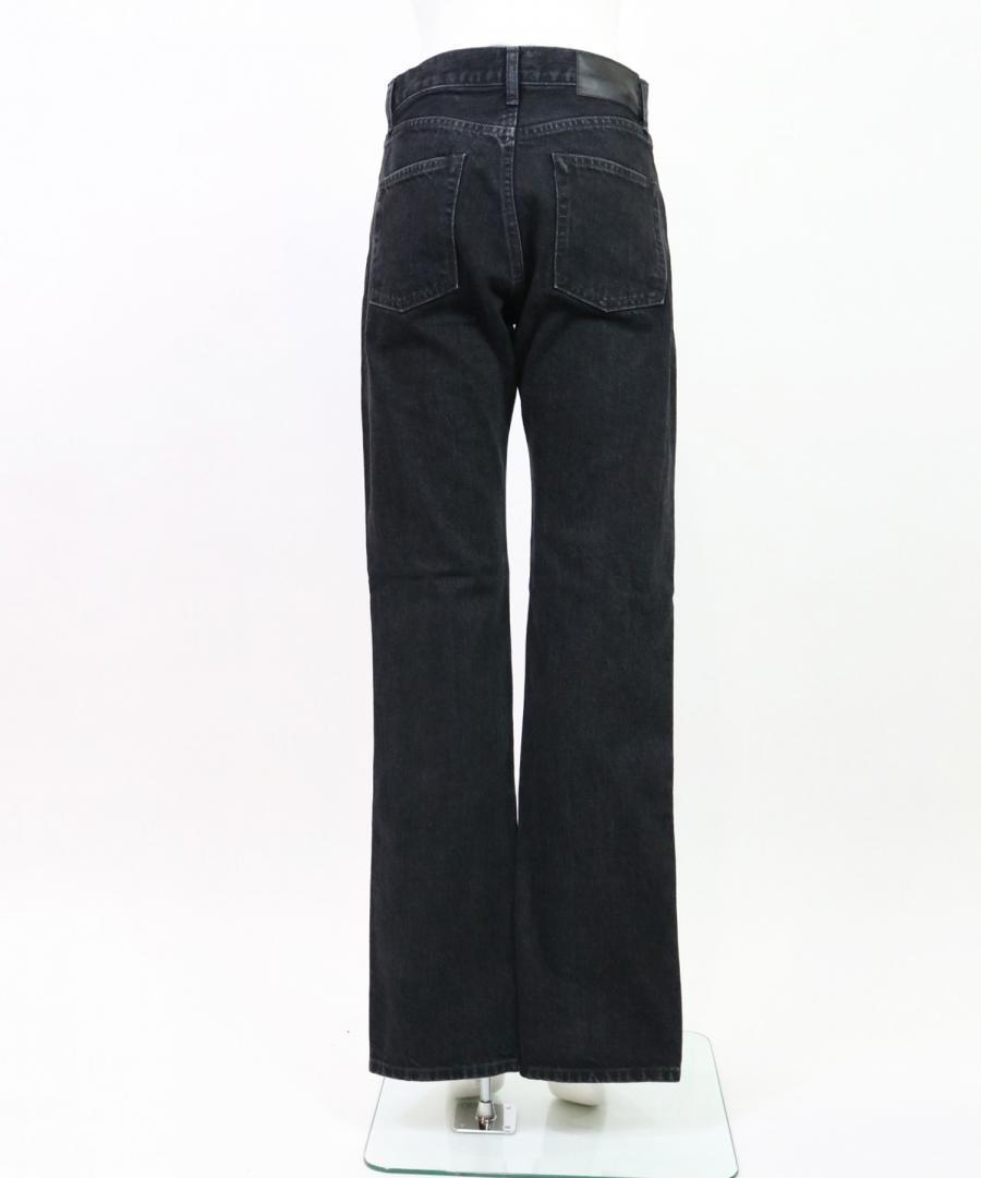 WASHED DENIM SLITED PANTS