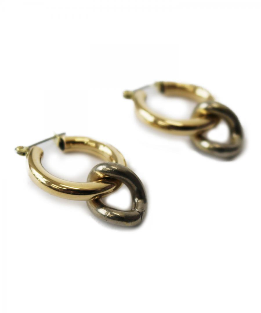 ONDA CHARM EARRINGS BRASS