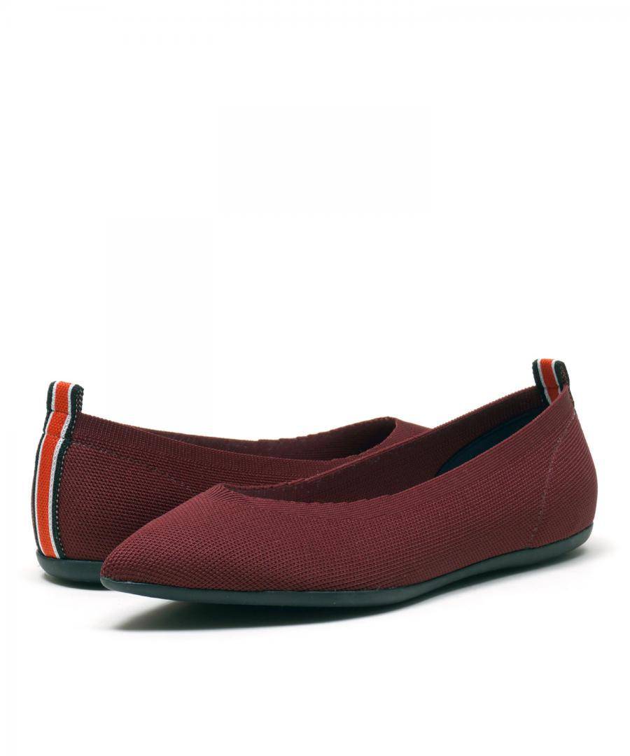 KNIT FLATS POINT Burgundy