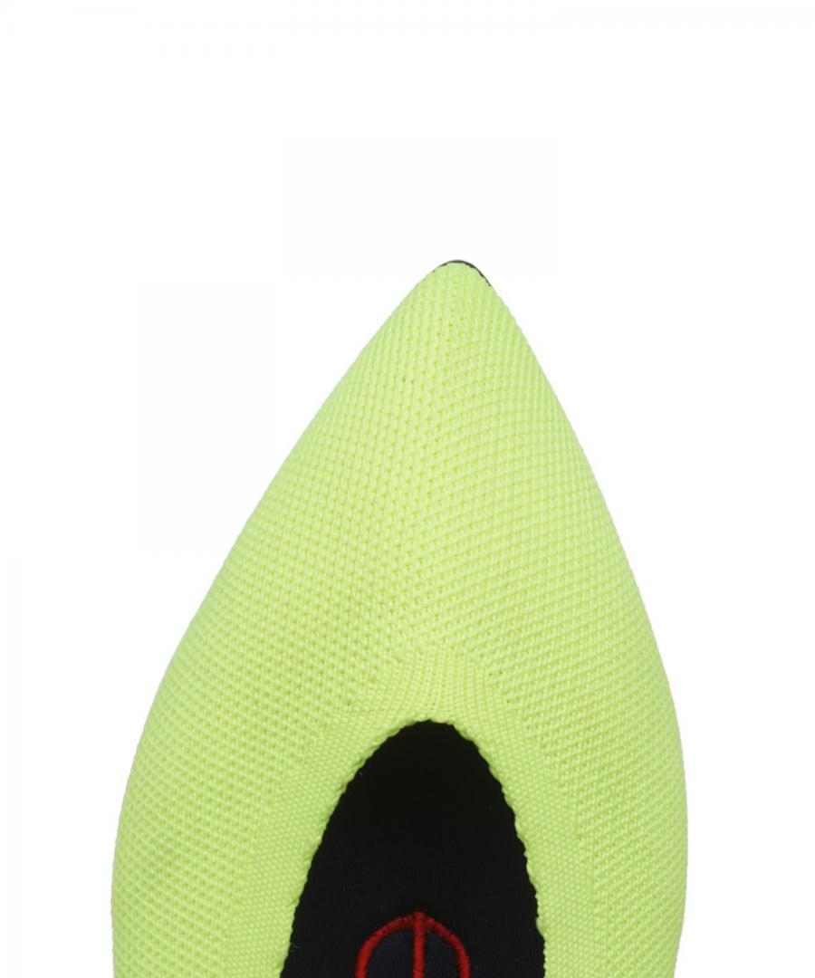 KNIT FLATS POINT Neon Lime