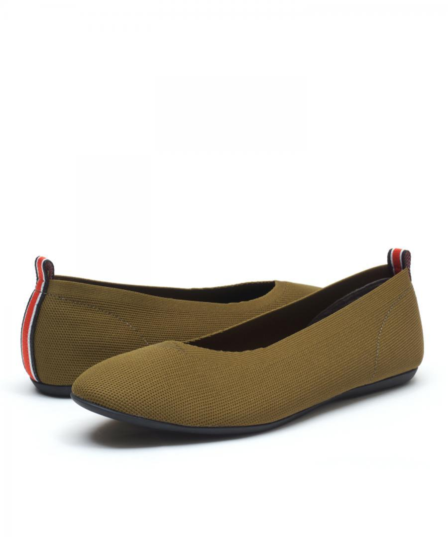 KNIT FLATS ROUND Olive