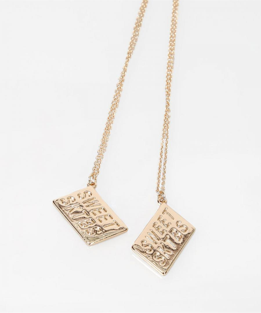 Necklace - Sweet BFF 2-pack Gold