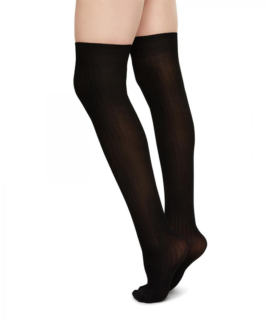 Ella Rib over knee black