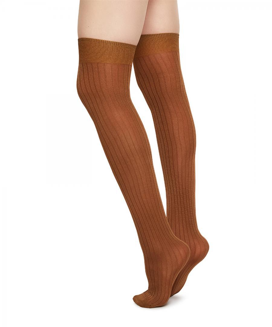 Ella Rib over knee camel