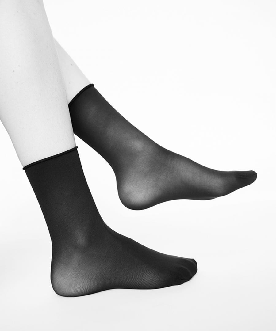 Judith Premium Socks two-pack:BLK/D.RED