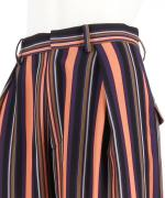STRIPE TUCKED TROUSERS