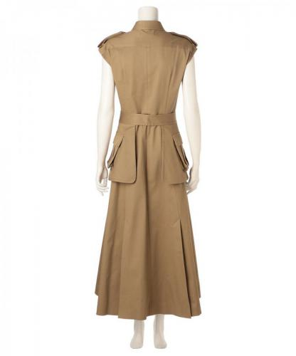 COTTON TWILL DRESS WITH POCKET BELT