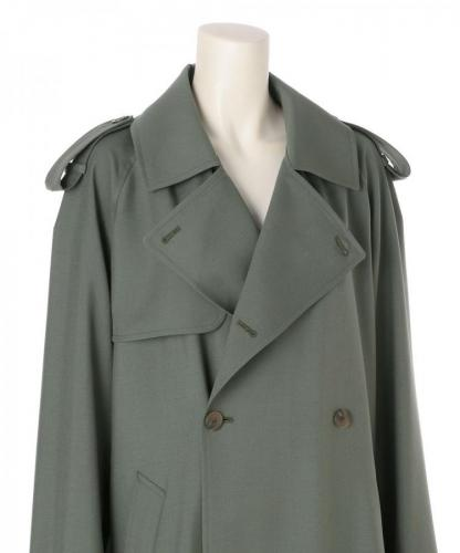 WOOL MOHAIR BLEND TRENCH COAT