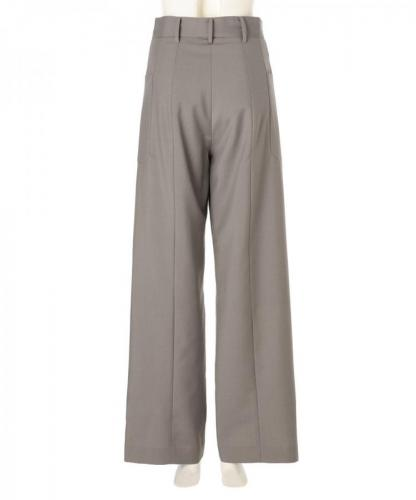 WOOL MOHAIR BLEND WIDE LEG TROUSERS